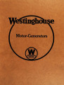 Westinghouse motor-generator : instruction book