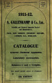 1910 catalogue of chemical apparatus, balances, and graduated instruments