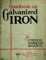 Handbook on galvanized iron for cornices, marquises and skylights
