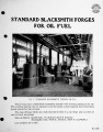 Standard blacksmith forges for oil fuel.