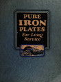 Pure iron plates of long service
