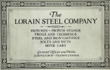 The Lorain Steel Company : switches, switch, stands, frogs, and crossings, steel and iron...