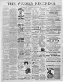 The Conshohocken Recorder, November 22, 1884