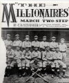 "Sheet music cover ""The Millionaires"""