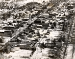 Aerial view of Broad Street area of Montoursville circa 1956