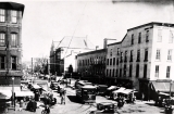 Market Street looking north from Third Street circa 1900