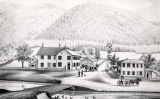 Wolf's Hotel and Store. J.M.& M. Wolf, Proprietors, and Residence of H. M. Wolf, Waterville,...