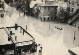William Street looking south from W. Third Street in 1936 flood
