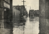 Willow Street looking west from Mulberry Street in 1936 flood