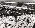 Aerial view of South Williamsport in 1950 flood