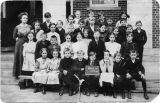 Teacher Mabel Ferner and students, Meyersdale Public School