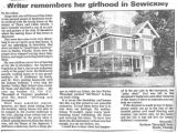 Writer Remembers Her Girlhood in Sewickley