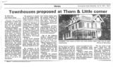 Townhouses Proposed at Thorn and Little Corner