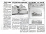 Old Train Station Restoration Continues On Track