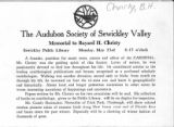 Audubon Soceity of Sewickley Valley Memorial to Bayard H. Christy