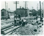 Photograph of laying of Trolley...