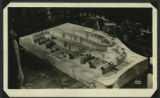Photograph of plaster model of Chatham Village