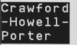 Crawford-Howell-Porter