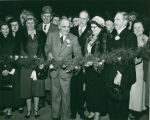 Mayor Samuel, Mrs. Duff and Lord Aberconway open the 1950 Philadelphia Flower Show