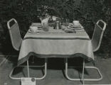 First prize entry for Class 510, terrace table setting, 1935 Philadelphia Flower Show