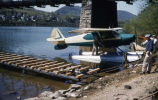 Pontoon airplane on Susquehanna River