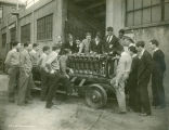 WTI Auto Mechanic Students with a Liberty Engine