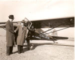 Dr. Parkes with the Williamsport Technical Institute Airplane